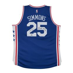 "Ben Simmons Signed 76ers Authentic Jersey Inscribed ""#1 Overall Pick 16"" (UDA COA)"