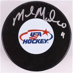 Mike Modano Signed USA Hockey Puck (PSA COA)