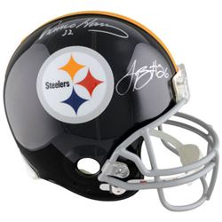 Le'Veon Bell  Franco Harris Signed Steelers Full-Size Authentic Pro-Line Helmet (Fanatics)