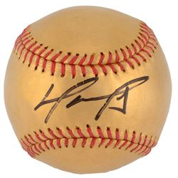 David Ortiz Signed LE 24K Gold Baseball (MLB)