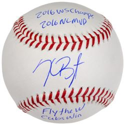"Kris Bryant Signed LE 2016 World Series Champ Baseball Inscribed ""16 WS CHAMPS,"" ""16 NL MVP,"" ""FLY T"