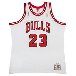 Michael Jordan Signed Limited Edition Bulls 1997 NBA Finals Authentic Mitchell  Ness Jersey #1/123 (
