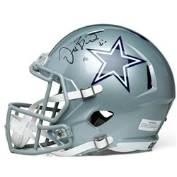 "Dez Bryant Signed Limited Edition Cowboys Full-Sized Speed Helmet Inscribed ""X"" #1/50 (Panini COA)"