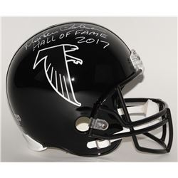 "Morten Andersen Signed Falcons Full-Size Helmet Inscribed ""Hall of Fame 2017"" (Radtke Hologram)"