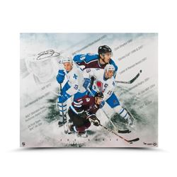 "Joe Sakic Signed ""Super Joe"" 20x24 Photo LE 50 (UDA COA)"