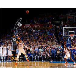 Stephen Curry Signed Warriors Game Winning Shot vs. OKC 16x20 Photo (Fanatics)