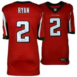 "Matt Ryan Signed Falcons Authentic Nike Elite Jersey Inscribed ""2016 NFL MVP"" (Fanatics)"