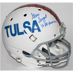 "Steve Largent Signed Tulsa Golden Hurricanes Full-Size Helmet Inscribed ""'75 All-American"" (JSA COA)"