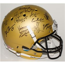 Custom Gold Matte Full-Size Helmet Signed by (24) With Marcus Mariota, Earl Campbell, Bo Jackson, Pa