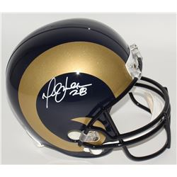 Marshall Faulk Signed Rams Full-Size Helmet (JSA COA)
