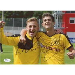Christian Pulisic  Felix Passlack Signed Borussia Dortmund 8 x 10 Photo (JSA COA)