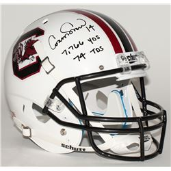 Connor Shaw Signed South Carolina Gamecocks Full-Size Helmet With Career Stat Inscriptions (Radtke C