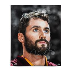 "Kevin Love Signed LE Cavaliers ""Up Close  Personal"" 20"" x 24"" Canvas Photo (UDA COA)"