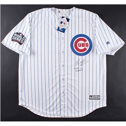 """Theo Epstein Signed Cubs """"2016 World Series"""" Jersey Inscribed """"16 WS Champs"""" (Schwartz COA)"""