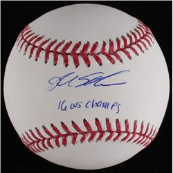"Kyle Schwarber Signed OML Baseball Inscribed ""16 WS Champs"" (MLB Hologram)"