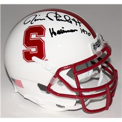 "Jim Plunkett Signed Stanford Cardinal Mini-Helmet Inscribed ""Heisman 1970"" (Beckett COA)"
