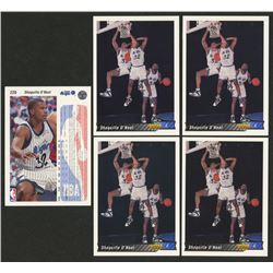 Lot of (5) 1992-93 Upper Deck International Spanish #220 Shaquille O'Neal