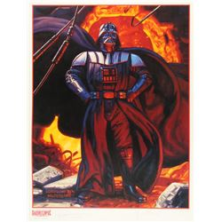 "Greg Hildebrandt  Tim Hildebrandt Signed ""Star Wars: Shadows of the Empire"" LE 18"" x 24"" Poster (PA"