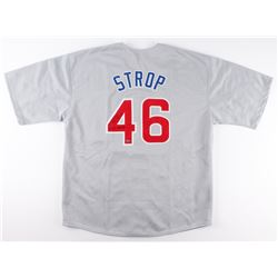 "Pedro Strop Signed Cubs Jersey Inscribed ""'16 WS Champs"" (Schwartz COA)"