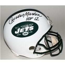 "Curtis Martin Signed Jets Full-Size Helmet Inscribed ""HOF 12"" (Martin Hologram)"