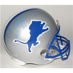 "Barry Sanders Signed Lions Full-Size Helmet Inscribed ""HOF '04"" (Schwartz Hologram)"