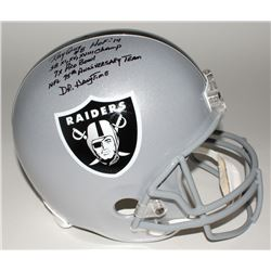 Ray Guy Signed Raiders Full-Size Helmet with (5) Inscriptions JSA COA)