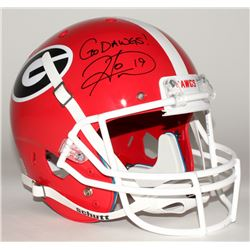 "Hines Ward Signed Georgia Bulldogs Full-Size Helmet Inscribed ""Go Dawgs!"" (JSA COA)"