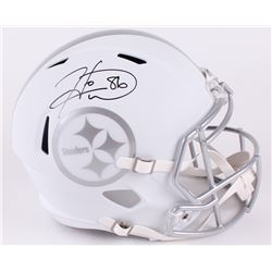 Hines Ward Signed Steelers Custom Matte White Full-Size Speed Ice Helmet (JSA COA)