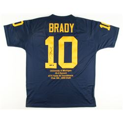 Tom Brady Signed LE Michigan Wolverines Highlight Stat Jersey (Steiner COA  Tristar Hologram)