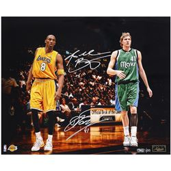 "Kobe Bryant  Dirk Nowitzki Signed LE ""Legends"" 16x20 Photo (Panini COA)"