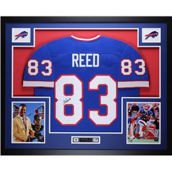Andre Reed Signed Bills 35x43 Custom Framed Jersey (JSA COA)