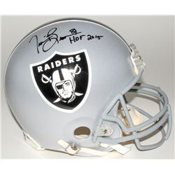"Tim Brown Signed Raiders Full-Size Authentic Helmet Inscribed ""HOF 2015"" (Brown Hologram)"