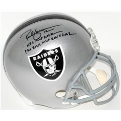 "Rich Gannon Signed Raiders Full-Size Helmet Inscribed ""NFL MVP 2002""  ""PRO BOWL MVP 2001  2002"" (Rad"