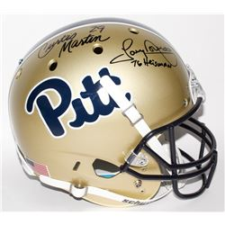 "Curtis Martin  Tony Dorsett Signed Pittsburgh Panthers Full-Size Helmet Inscribed ""76 Heisman"" (JSA"