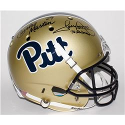 "Curtis Martin Signed Pittsburgh Panthers Full-Size Helmet Inscribed ""76 Heisman"" (JSA COA  Martin Ho"