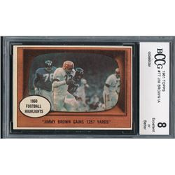 1961 Topps #77 Jim Brown IA (BCCG 8)