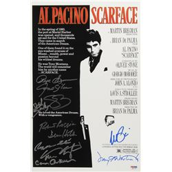 """Scarface"" 11"" x 17"" Movie Poster Signed by (11) With Al Pacino, Pepe Serna, Geno Silva, Steven Baue"