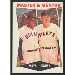 1960 Topps #7 Master and Mentor Willie Mays / Bill Rigney MG