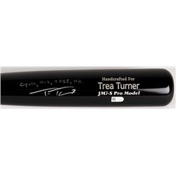 "Trea Turner Signed Marucci Pro Player Model JM7-S Baseball Bat Inscribed ""Cycle - 4-6, 7 RBI, HR"" (M"