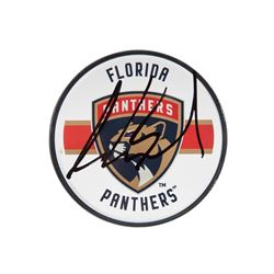 Aaron Ekblad Signed Panthers Acrylic Hockey Puck (UDA COA)
