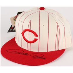 Pete Rose Signed Reds New Era Hat (JSA COA)