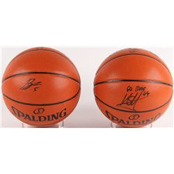 Lot of (2) Signed NBA Game Ball Series Basketballs with (1) Signed by Bobby Portis  (1) Signed by Ni