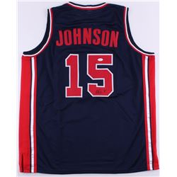 Magic Johnson Signed Team USA Jersey (JSA COA)