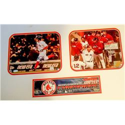 "Mark Bellhorn Signed Red Sox 17"" x 28"" Custom Matted Photo Display (Steiner Hologram)"