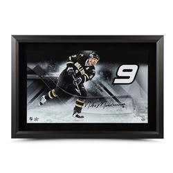 "Mike Modano Signed Stars 17"" x 25"" Custom Framed Hockey Stick Blade Display (UDA COA)"