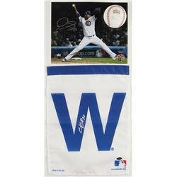 Lot of (3) Signed Cubs Baseball Items with (1) Pedro Strop 8x10, (1) Rob Zastryznya 2016 World Serie