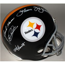 "Steelers ""Defensive Greats"" Full-Size Helmet Signed By (5) With Joe Greene, Jack Ham, Jack Lambert,"
