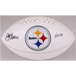 "Joe Greene Signed Steelers Logo Football Inscribed ""HOF 87"" (JSA COA)"