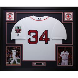 "David Ortiz Signed Red Sox 35"" x 43"" Custom Framed Jersey (MLB  Fanatics)"