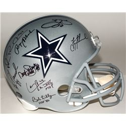 Dallas Cowboys Greats Signed Full-Size Helmet with (23) Signatures Including Roger Staubach, Troy Ai